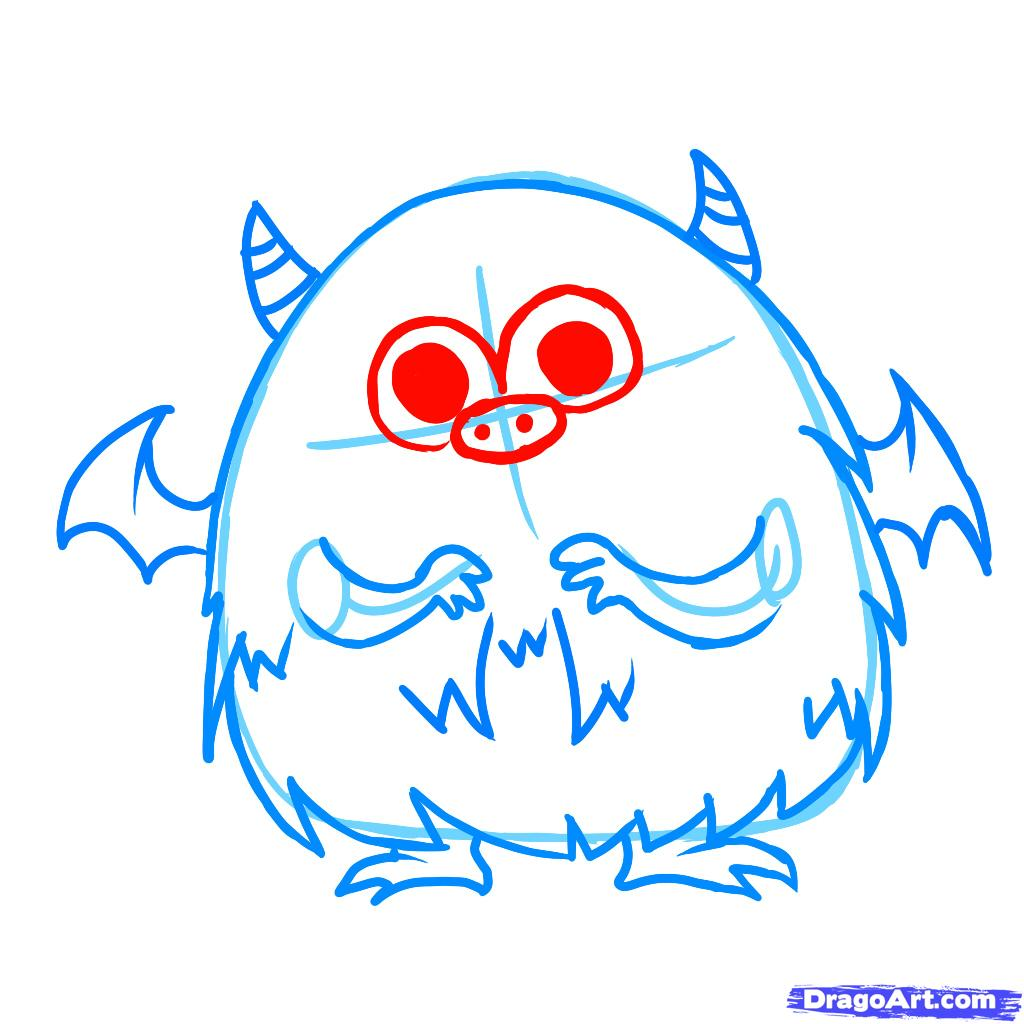 1024x1024 Drawing Cute Little Monster Drawings Also Cute Baby Monster
