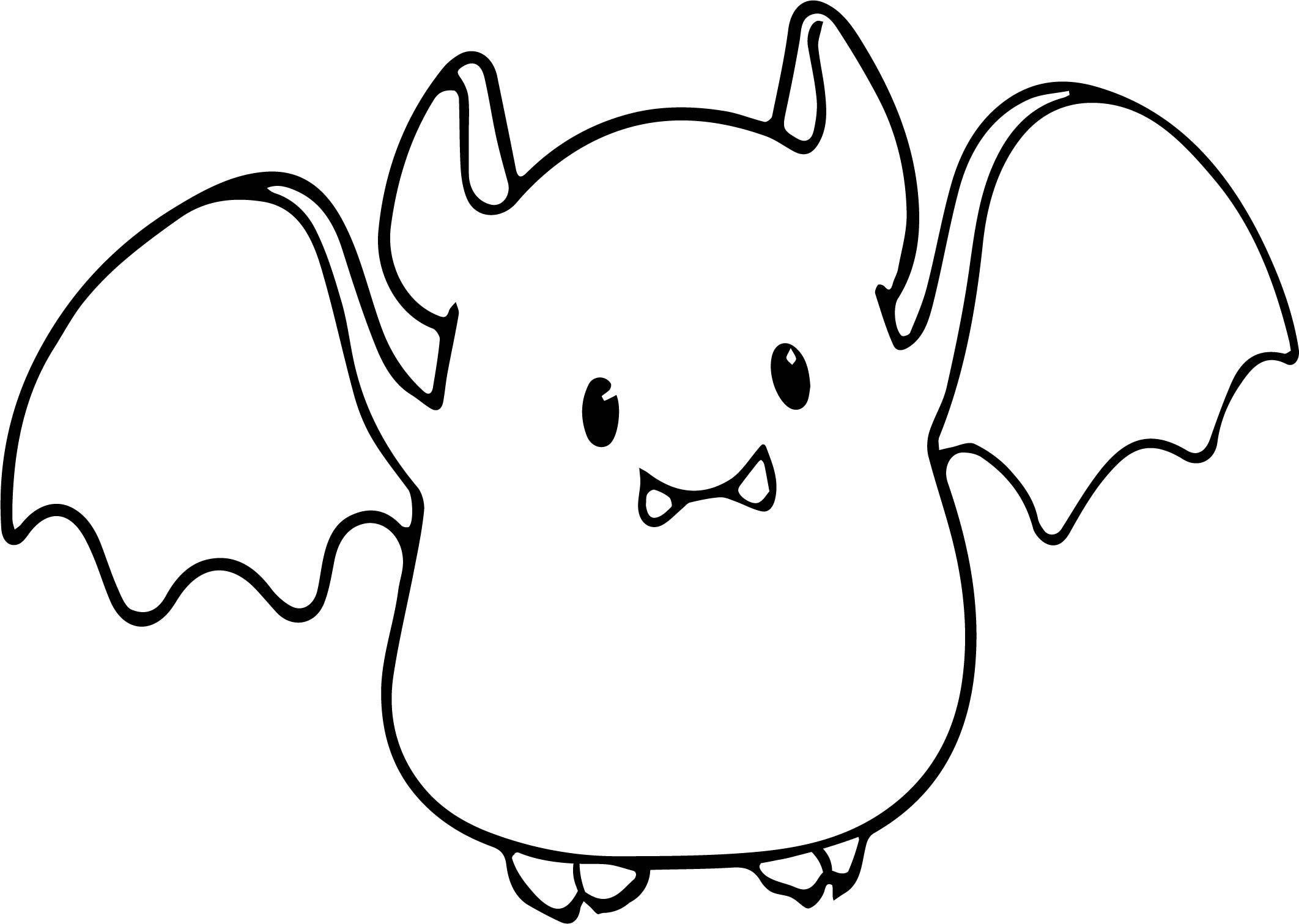 2124x1511 Small Cute Baby Cartoon Vampire Bat Coloring Page Wecoloringpage