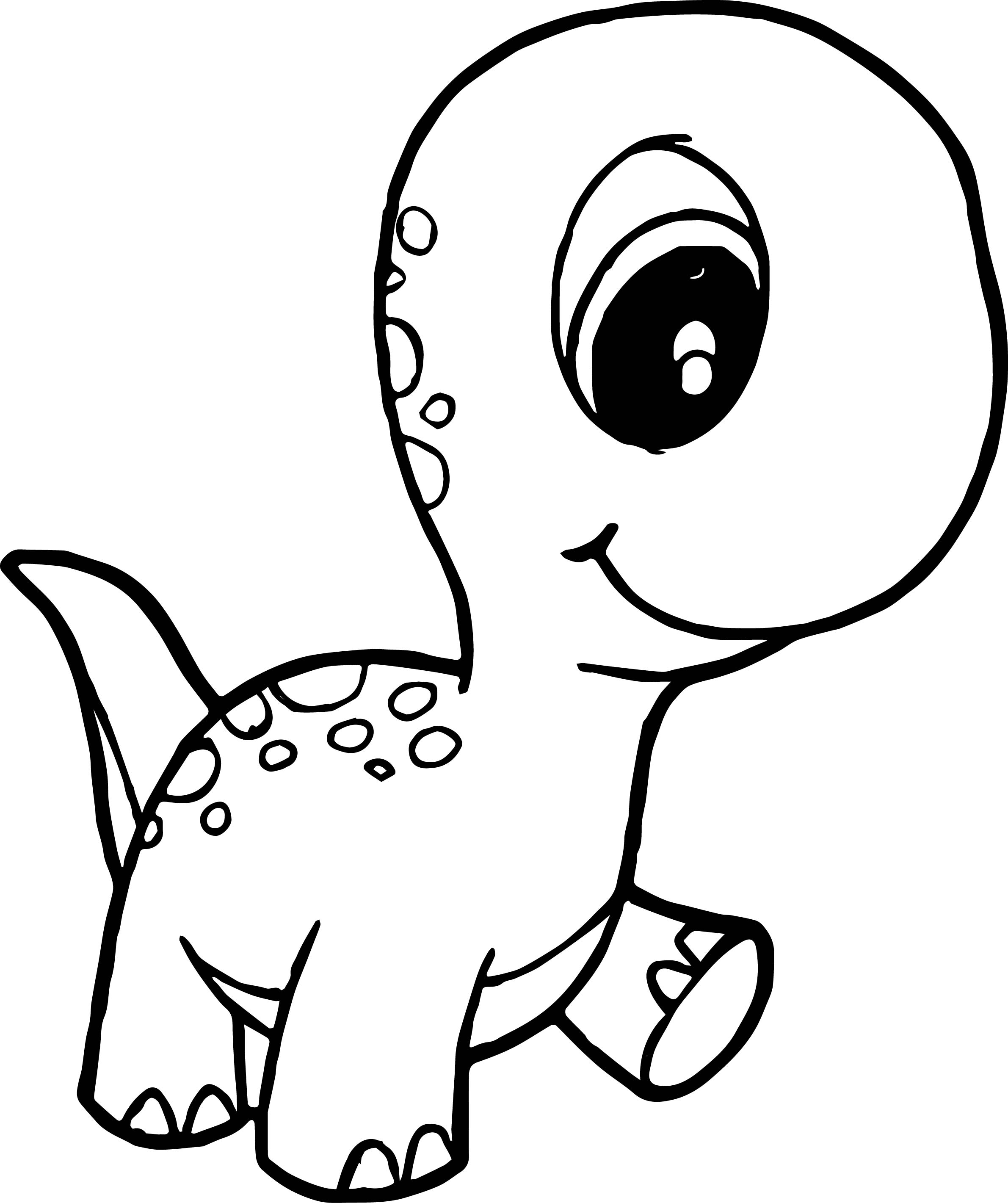 2381x2841 Dinosaur Cute Baby Walking Coloring Page Wecoloringpage