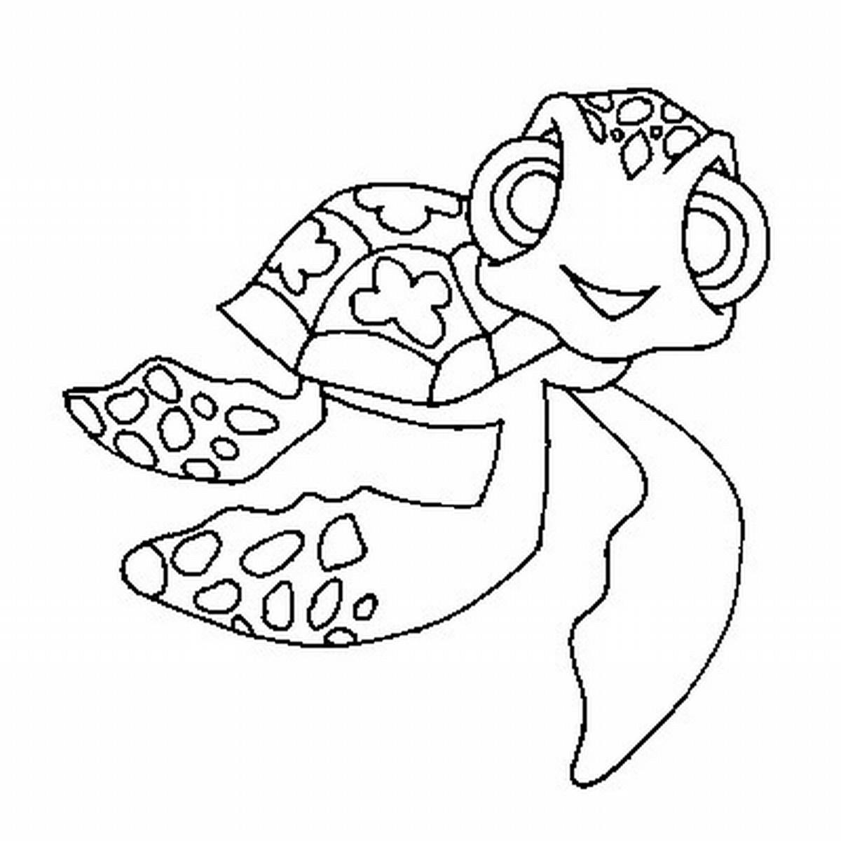 1200x1200 Unique Fascinating Cartoon Turtle Coloring Pages Cute Baby Sea Drawing