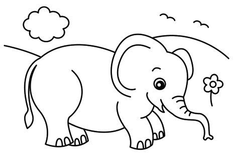 Cute Baby Elephant Drawing at GetDrawings.com   Free for personal ...