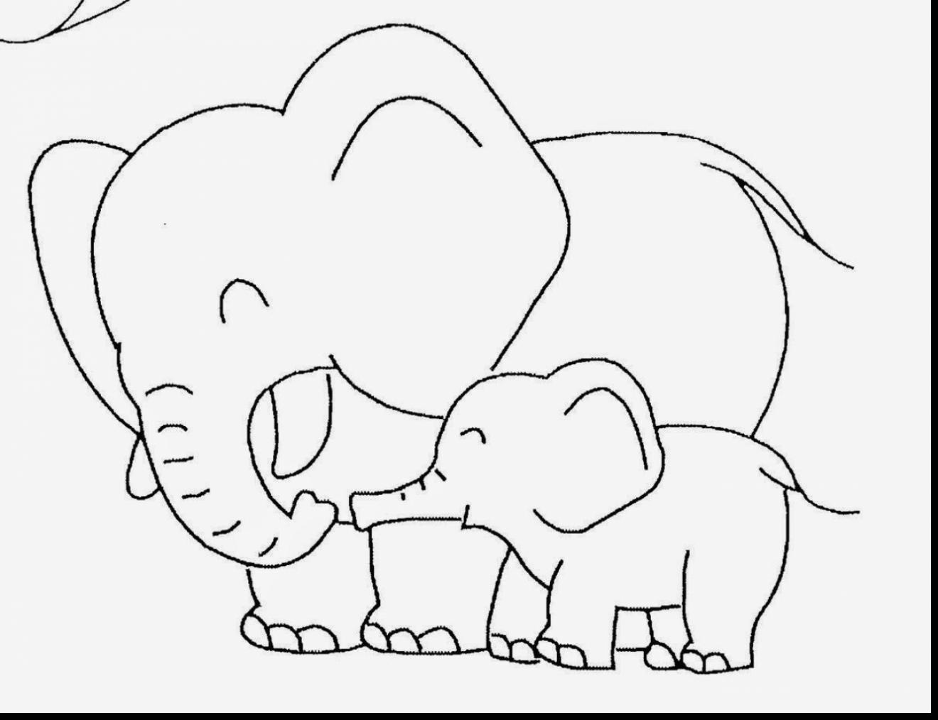 1320x1014 Brilliant Cute Baby Elephant Coloring Pages With Animal