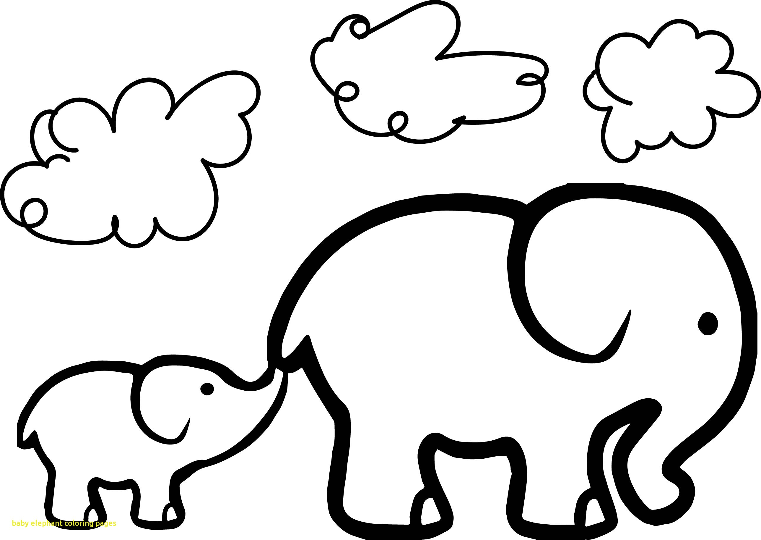 Cute Baby Elephant Drawing at GetDrawings | Free download