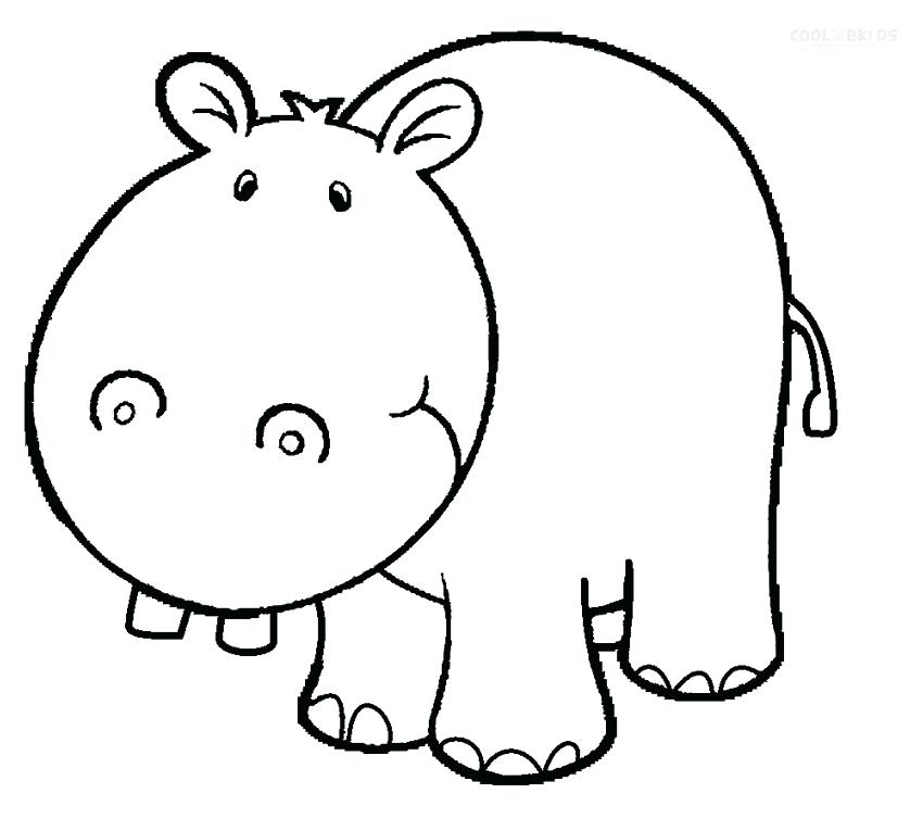 850x765 Baby Hippo Coloring Pages Printable For