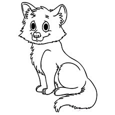 230x230 Cute Baby Fox Coloring Perfect Baby Fox Coloring Pages