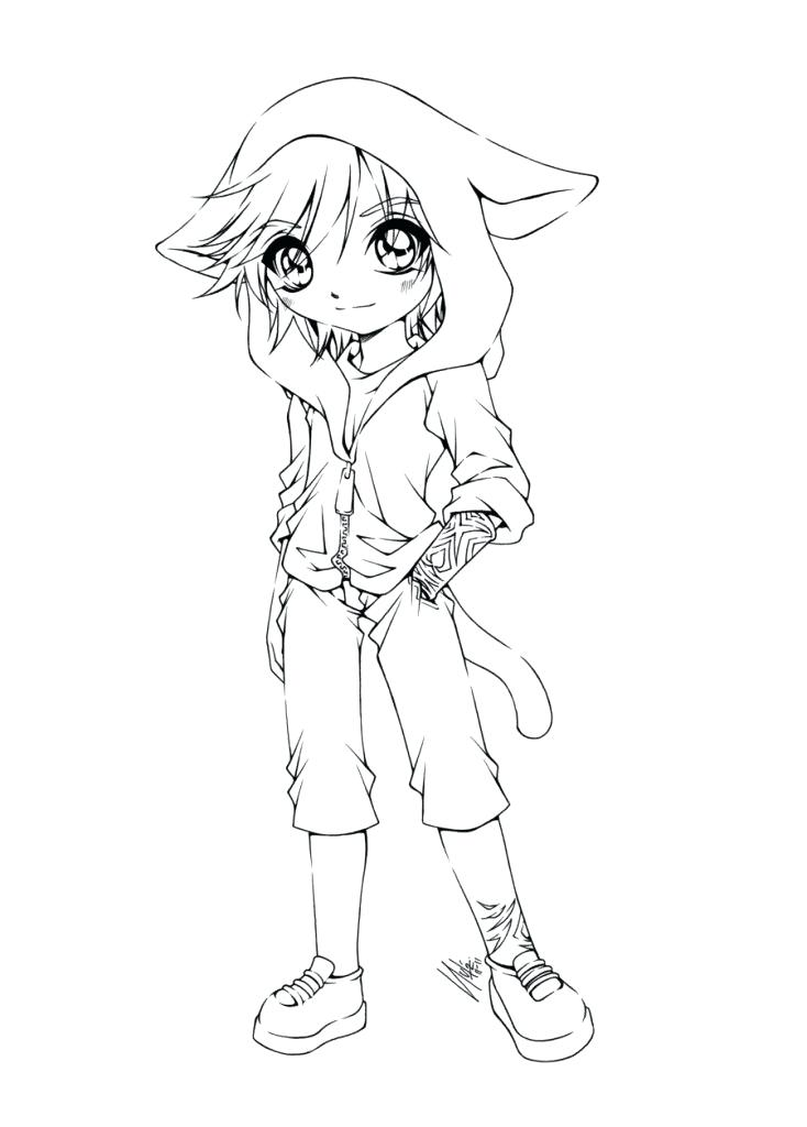 734x1024 Cute Girl Coloring Pages Anime Fox Girl Cute Coloring Pages Cute