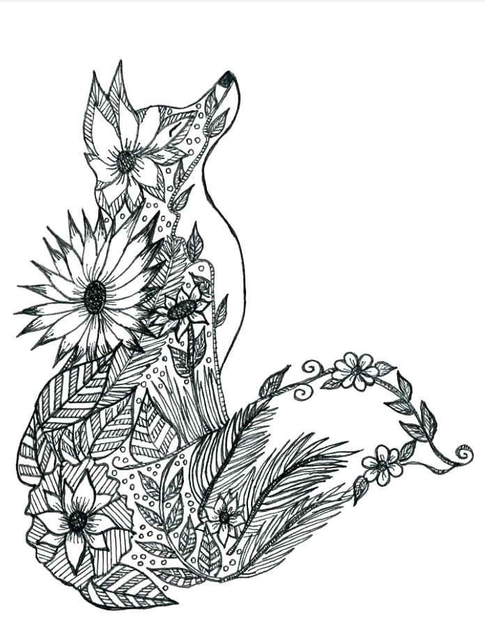 696x896 Fox Coloring Pages Cute Baby Fox Coloring Page Fox Coloring Pages