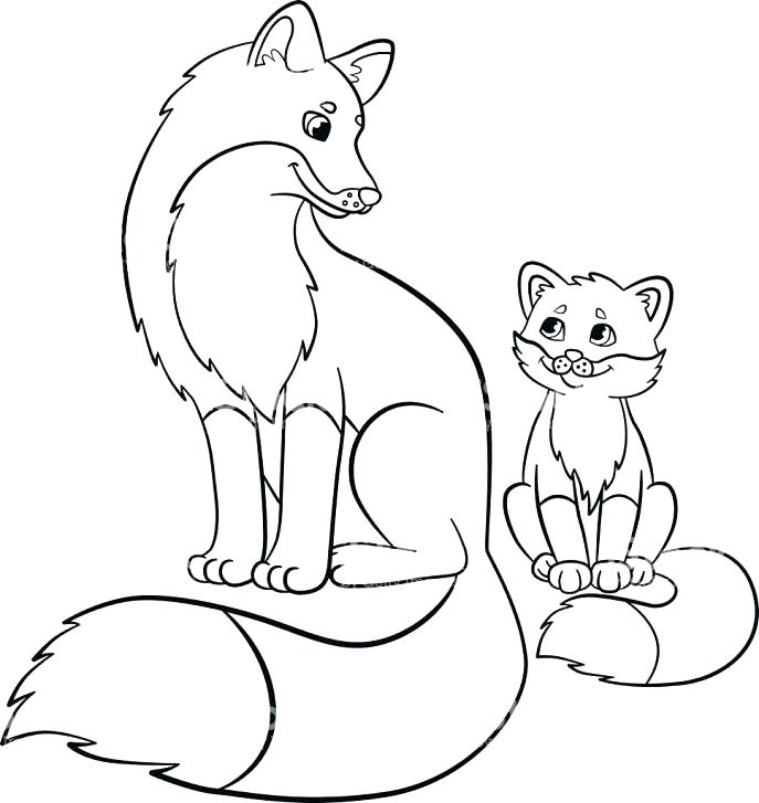 687x727 Baby Fox Coloring Pages As Baby Fox Coloring Pages Cute Baby Fox