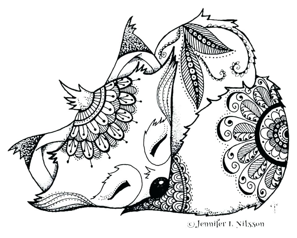 960x768 Baby Fox Coloring Pages Fox Coloring Page Foxes Adult Cute Baby