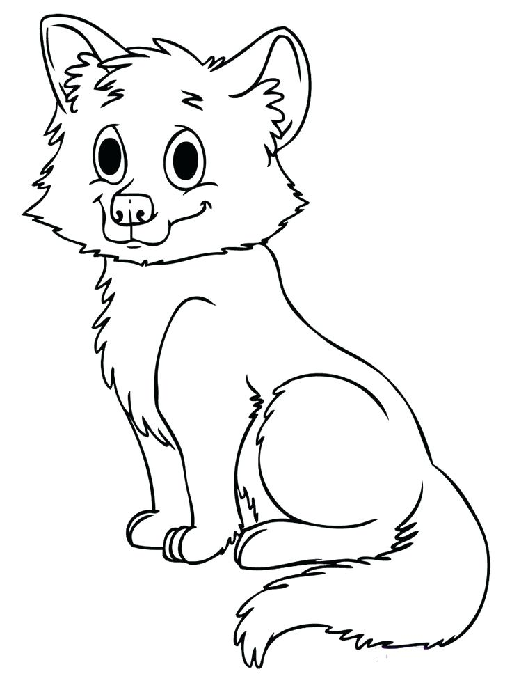 736x981 Baby Fox Coloring Pages Red Fox Coloring Pages Cute Baby Fox