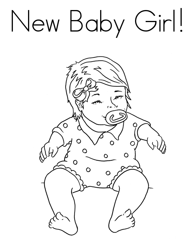 685x844 Cute And Latest Baby Coloring Pages