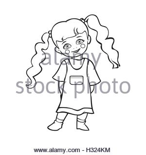 300x320 Vector Illustration Of Cute Baby Girl Taking A Bath In Tub