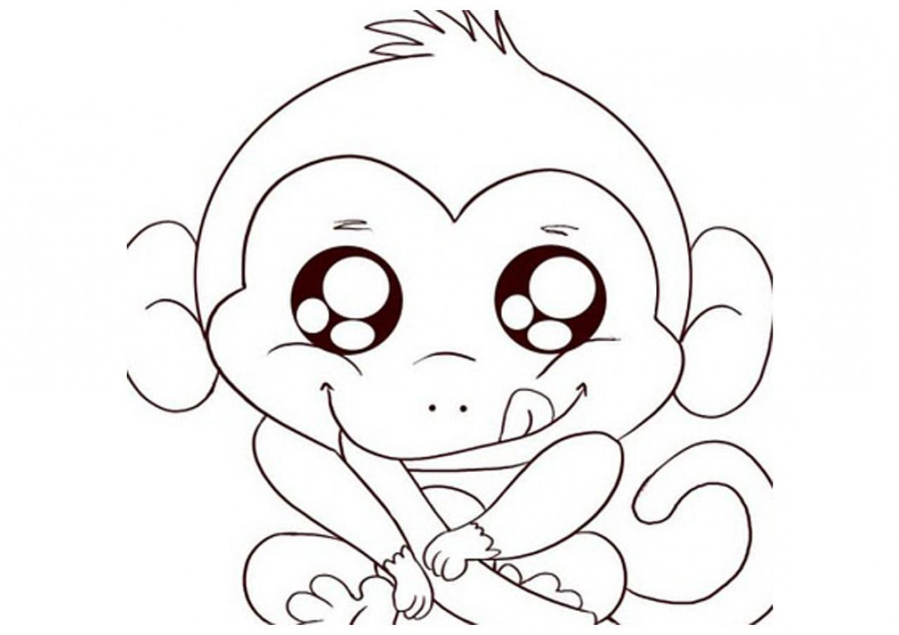 1280x904 Cute Monkey Drawings Cute Baby Monkey Drawings Cute Baby Monkey