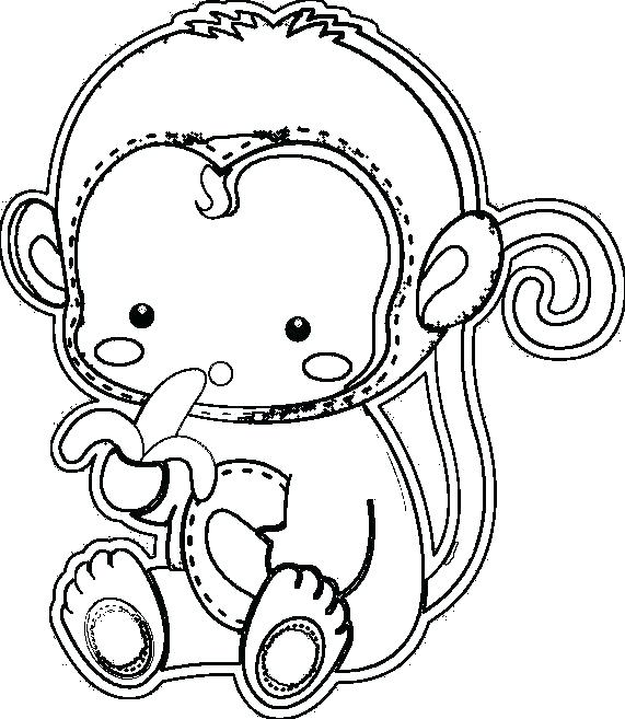 571x657 Monkey Face Coloring Page Night Monkey With Cute Face And Funny