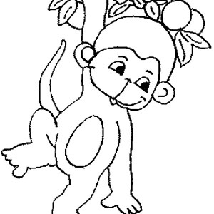 300x300 Simple Monkey Drawing Coloring Simple Monkey Drawing Coloring.jpg
