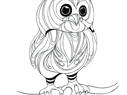440x330 Elegant Baby Owl Coloring Pages Image Page Cute Cartoon Owls To