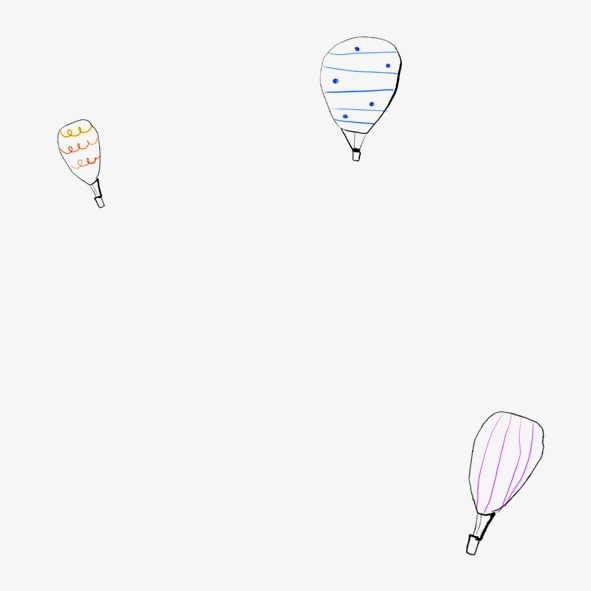 591x591 Floating Hot Air Balloon, Hand Painted Hot Air Balloon, Cute Hot