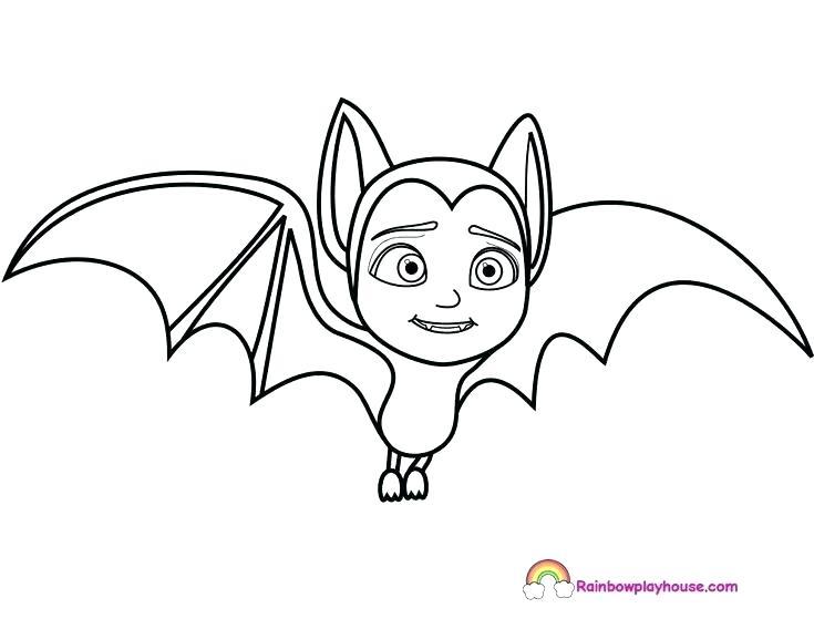 735x568 Bat Coloring Pages Bats Coloring Pages Printable Cute Bat Coloring