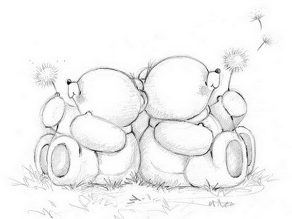 600x449 Lovely Teddy Bear Drawings For Inspiration