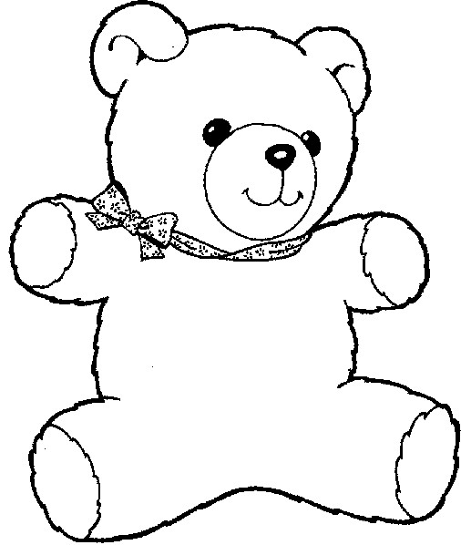 506x598 Cute Bear Coloring Pages Kid's Coloring Pages