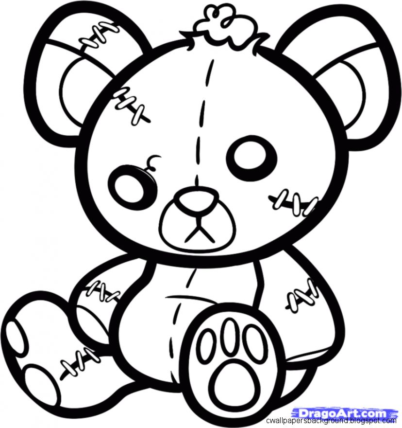 828x880 Cute Bear Drawing Wallpapers Background