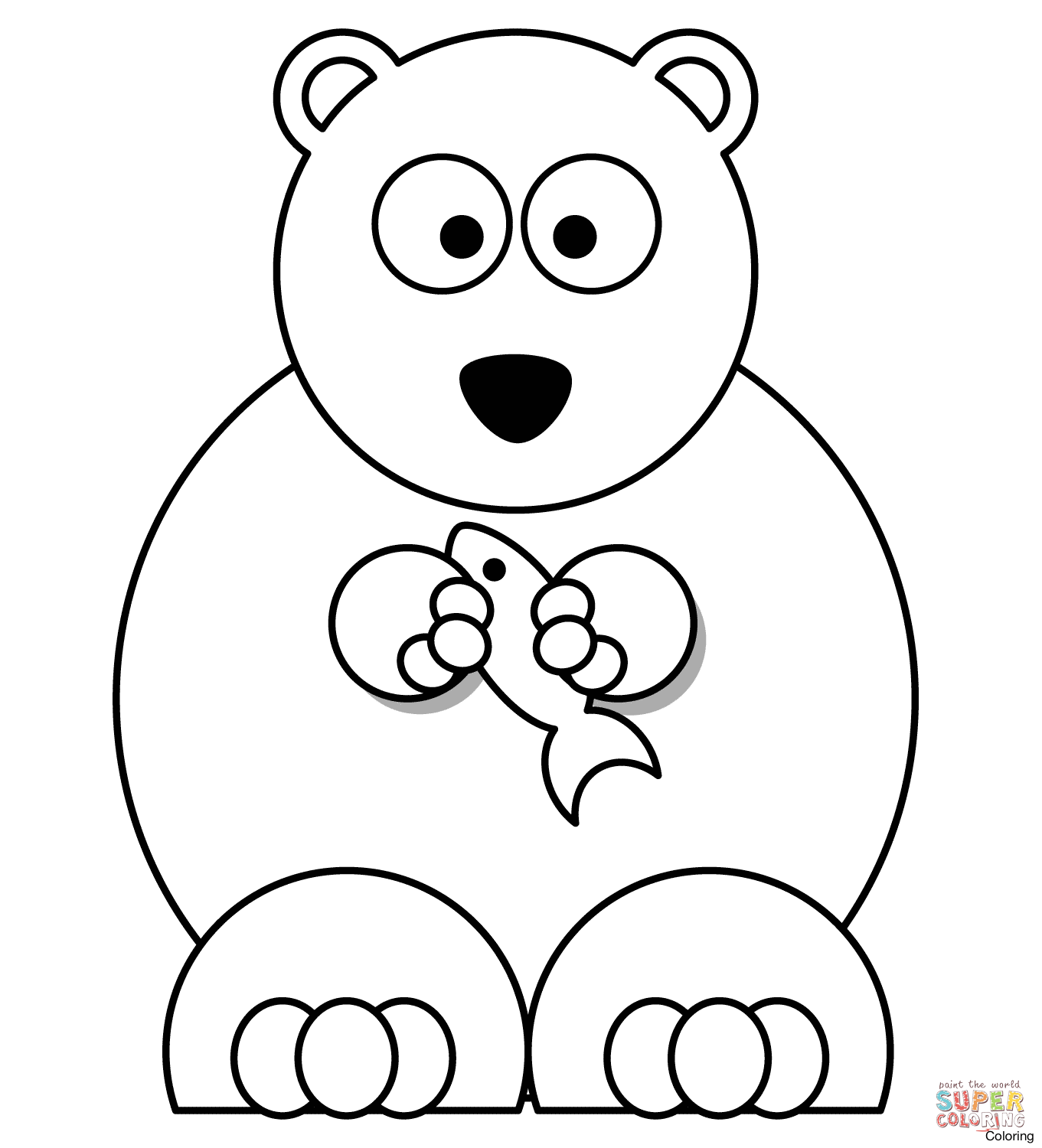 1361x1500 Cute Polar Bear Drawing Art Library 1 How To Draw A Coloring 5f