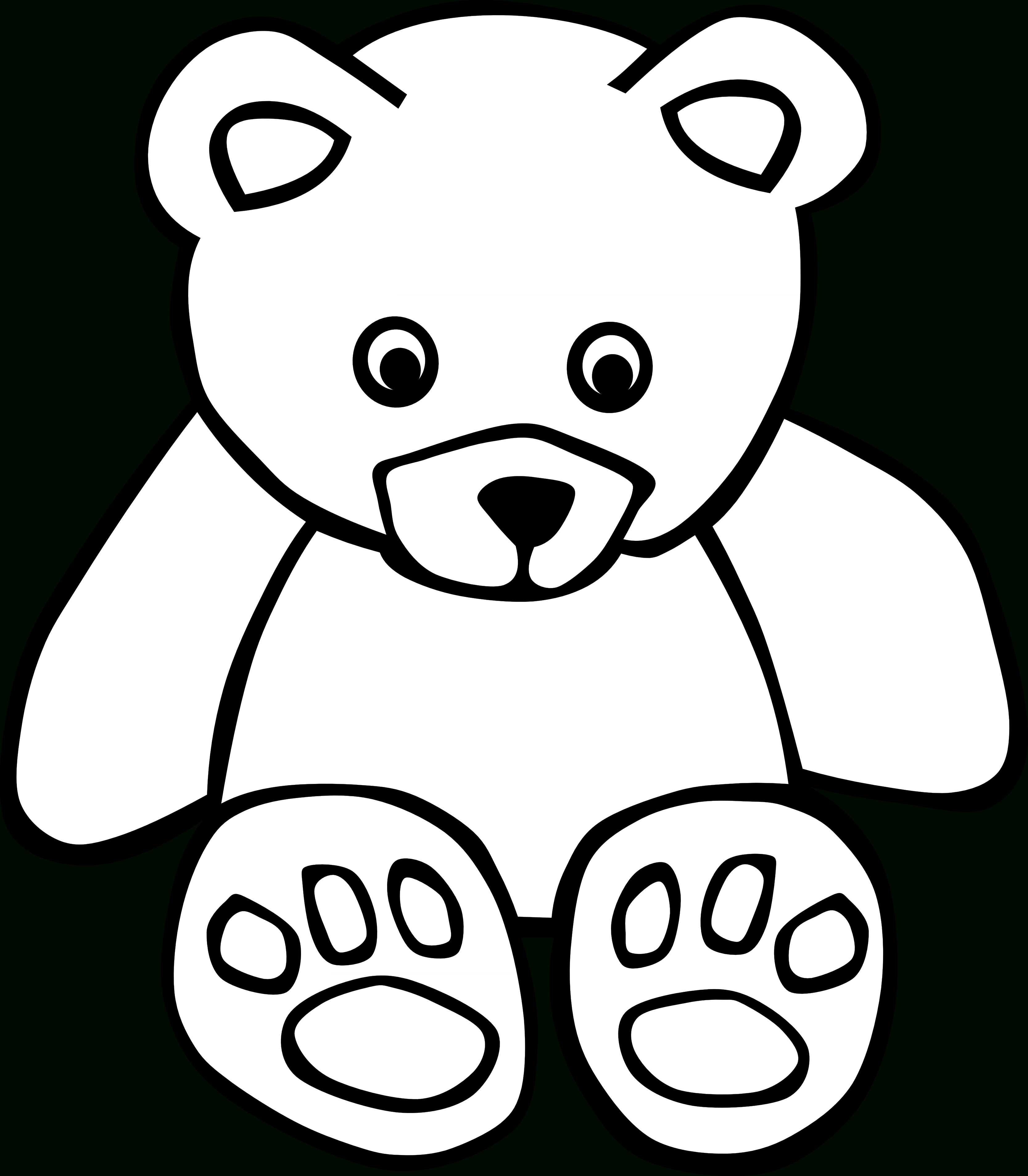 3333x3812 Cute Teddy Bear Drawings Step By Step