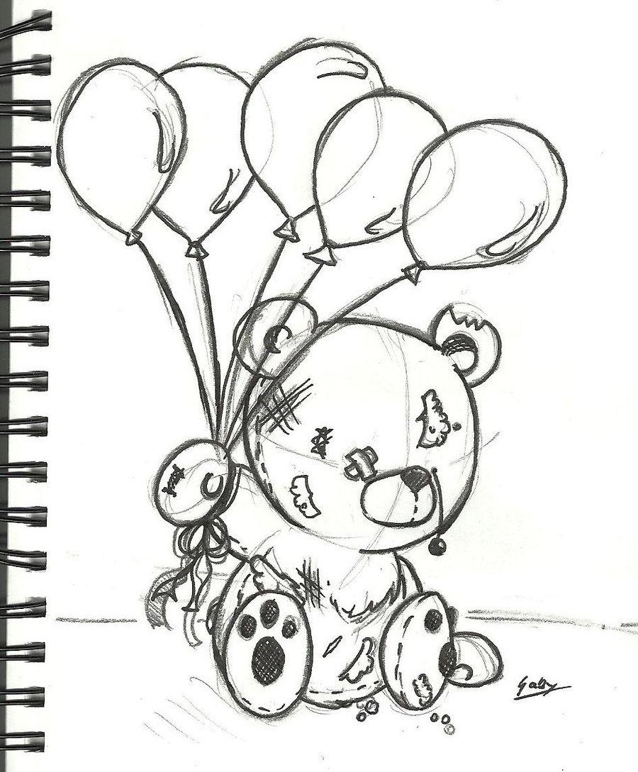 900x1089 Emo Teddy Bear Drawing Cute Draw Cliparts