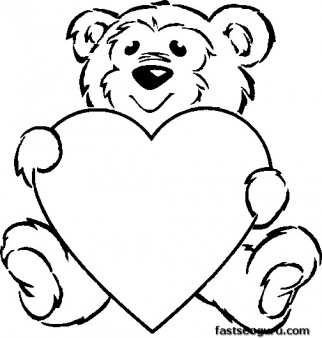 322x338 Gallery Cute Teddy Bear Heart Drawing,
