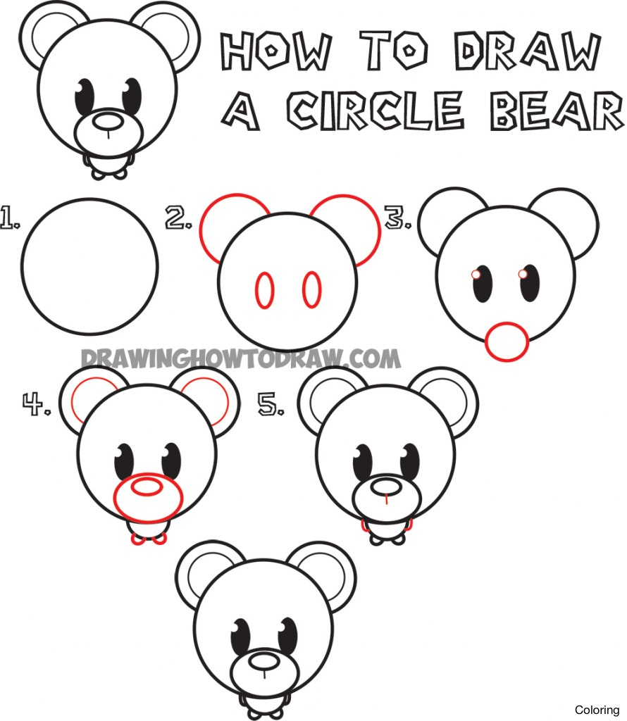 890x1024 Polar Bear6 How To Draw A Cute Bear Coloring 25f And Easy Step By
