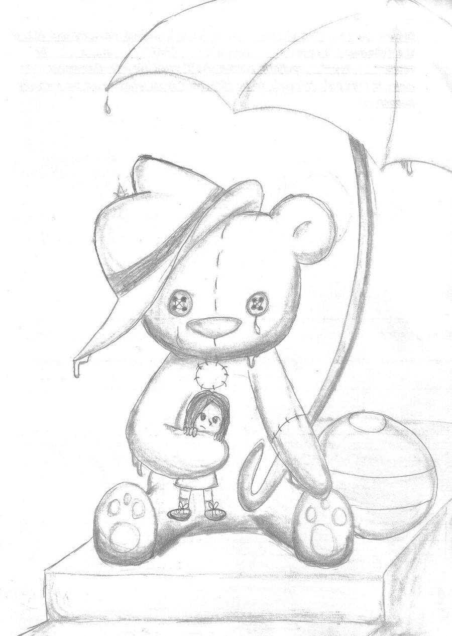 900x1265 Surreal Teddy Bear By Jingle101
