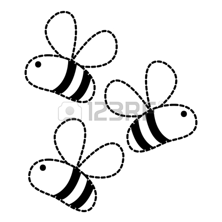 Cute Bee Drawing