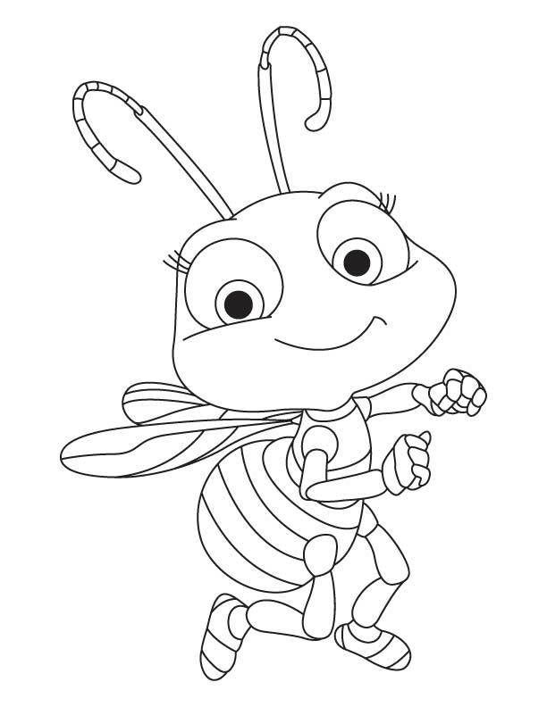 612x792 Cute Honey Bee Coloring Pages Download Free Cute Honey Bee