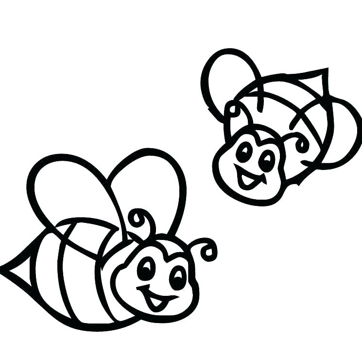 745x737 Idea Bee Coloring Pages For X 74 Beehive Coloring Sheets