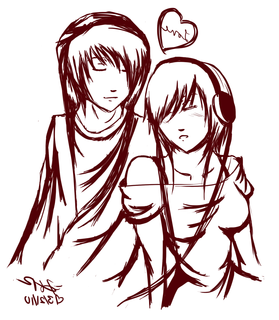 900x1032 Hd Cute Boy And Girl Kissing Sketch Girl And Boy Drawing Best