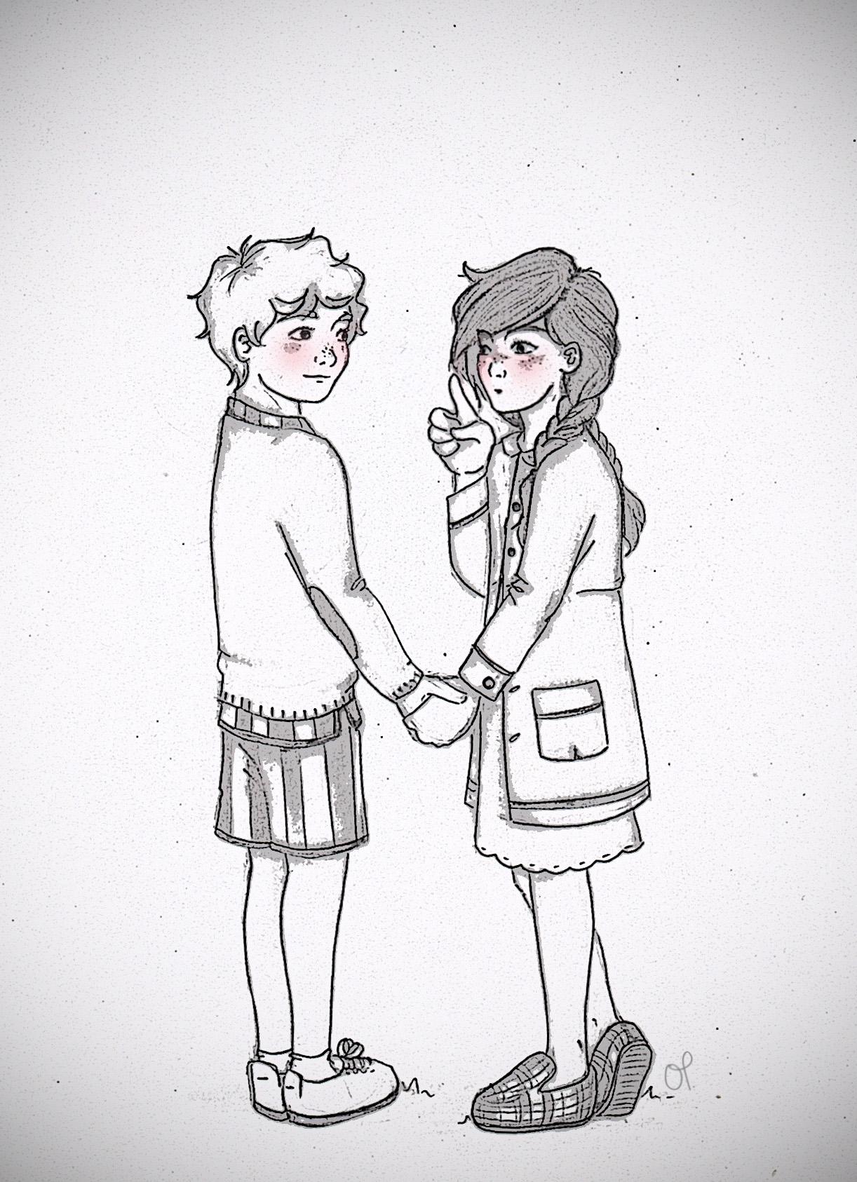 1222x1686 Photos Tumblr Sketch Girl And Boy,