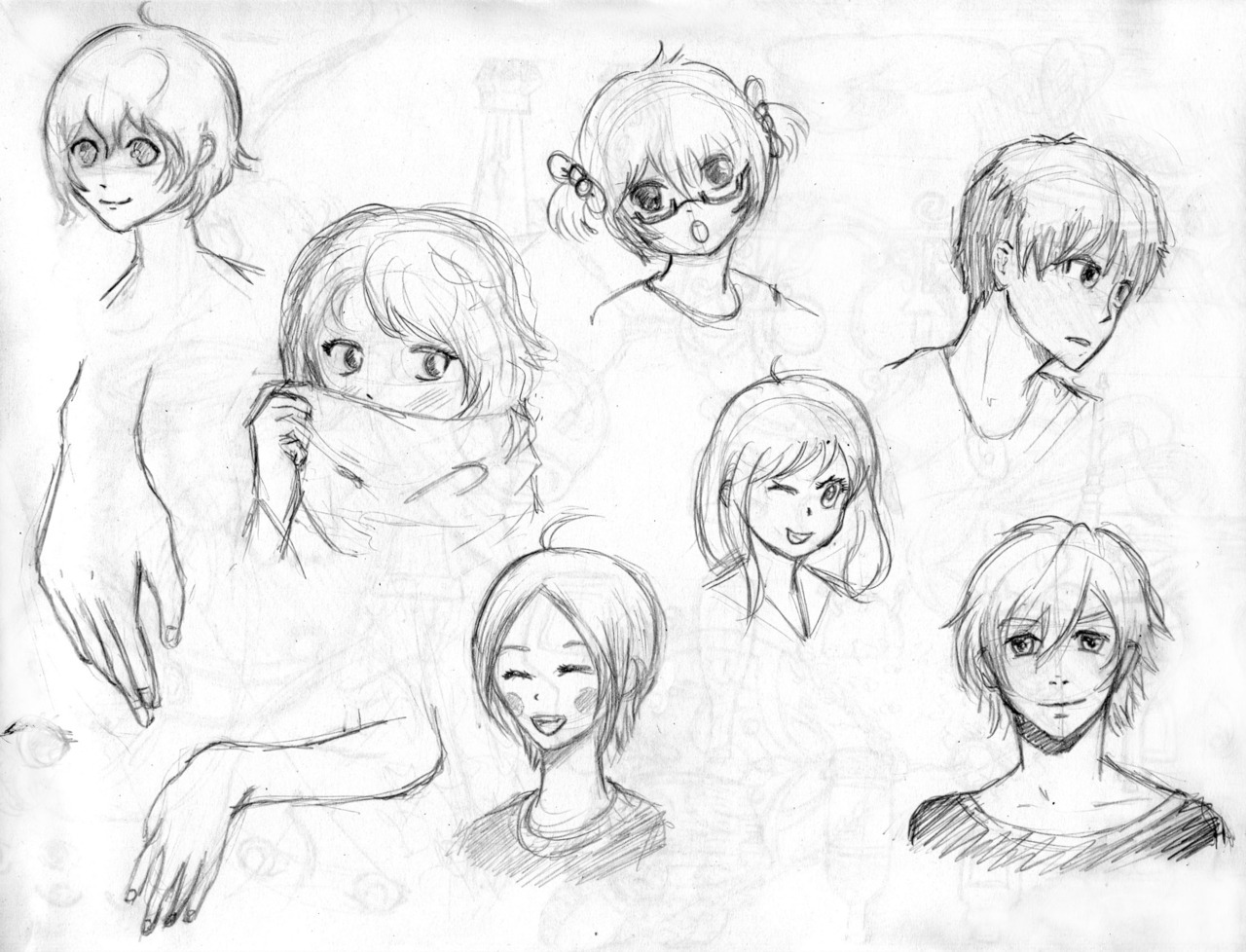 1280x978 Some Sketches Of Cute Boys And Girls For Today