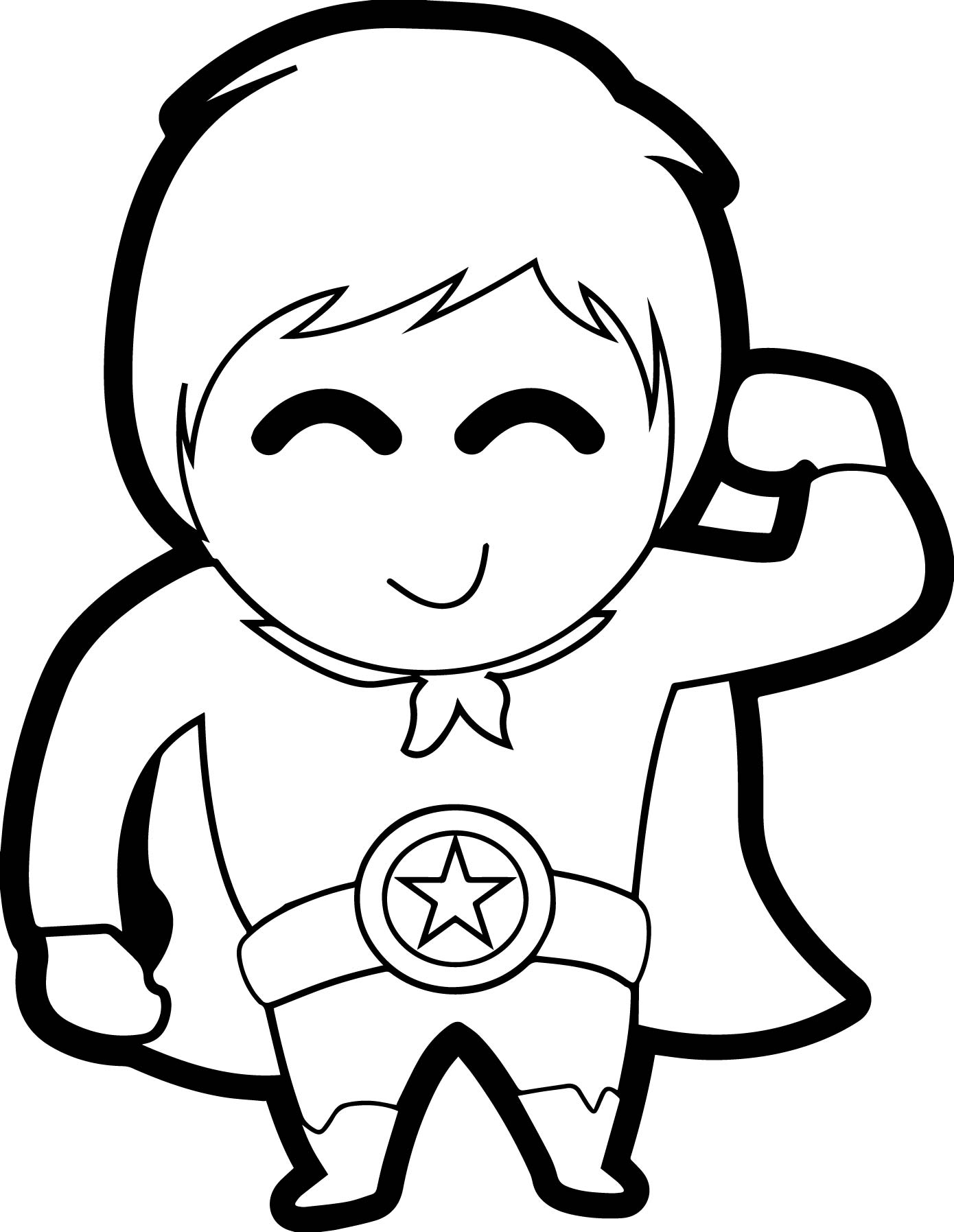 1390x1795 Cute Boy Heroes Coloring Page Wecoloringpage