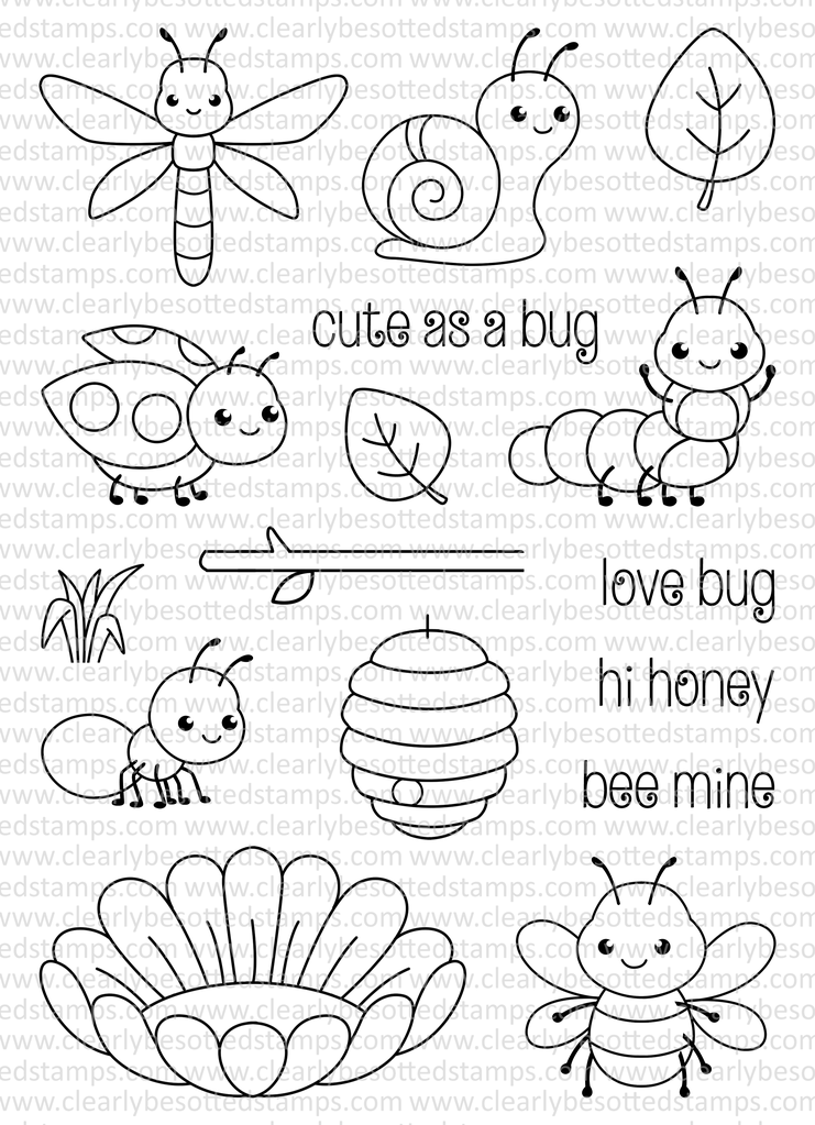 741x1023 Clearly Besotted Stamps Cute As A Bug Clearly Besotted Stamps