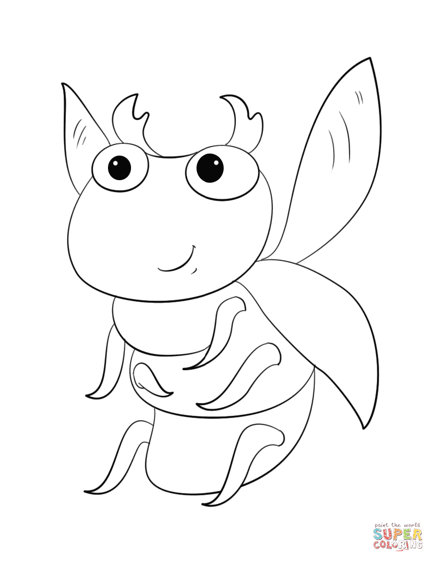 848x1098 Cute Cartoon Bug Coloring Page Free Printable Coloring Pages