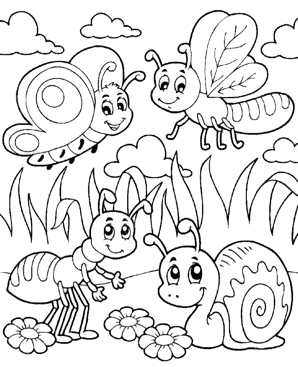 600x740 Bugs Coloring Pages Coloring Page For Kids