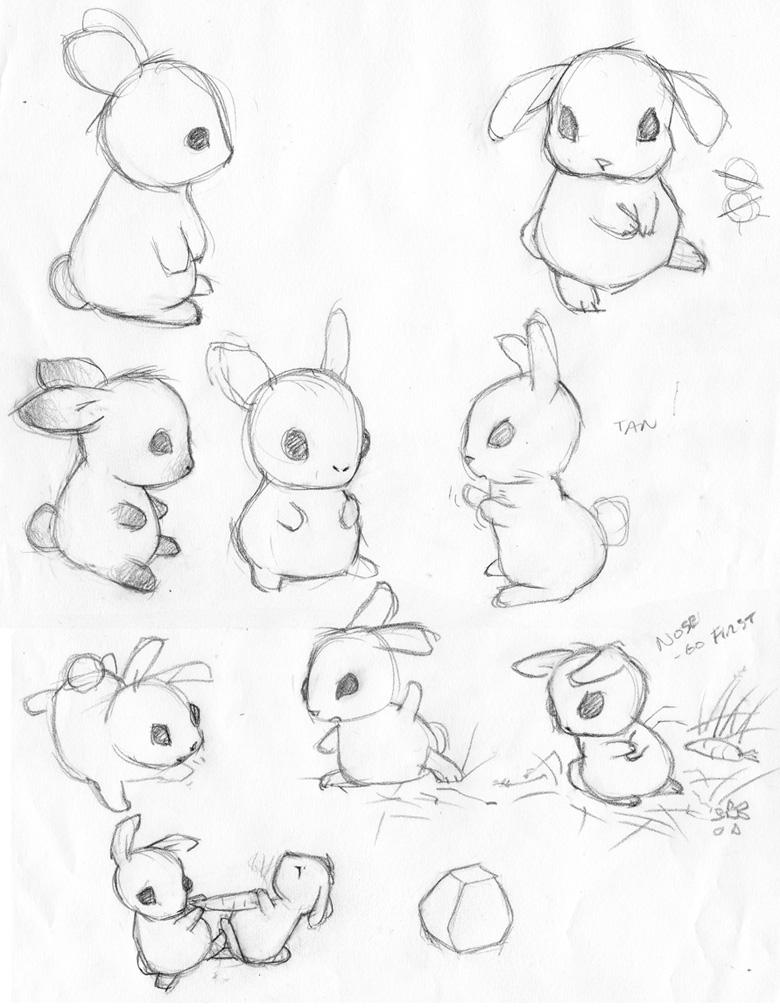 Cute Bunny Drawing at GetDrawings | Free download