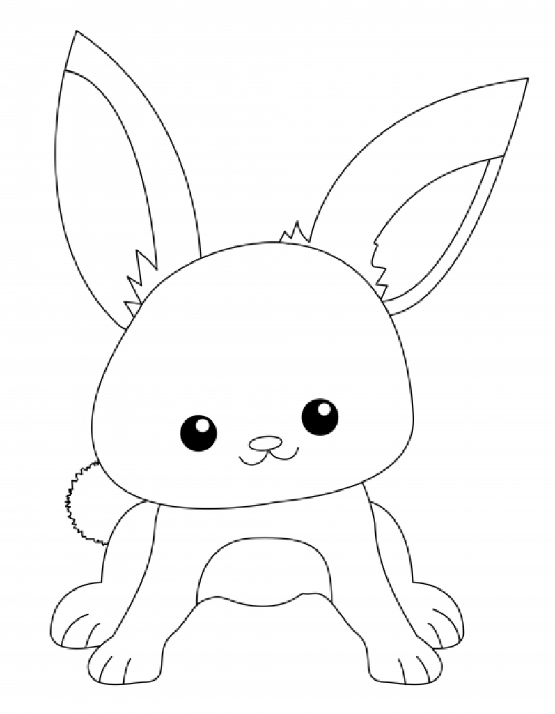 797x1024 Cute Bunny Coloring Pages