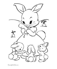 235x288 Cute Bunny Coloring Sheets