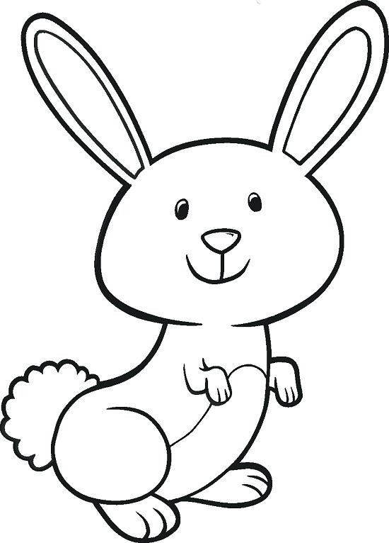 550x766 Easter Bunny Coloring Page A Cute Bunny Holding An Basket Coloring