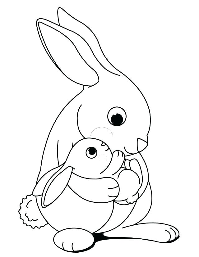640x828 Printable Bunny Coloring Pages Cute Bunny Coloring Pages To Print