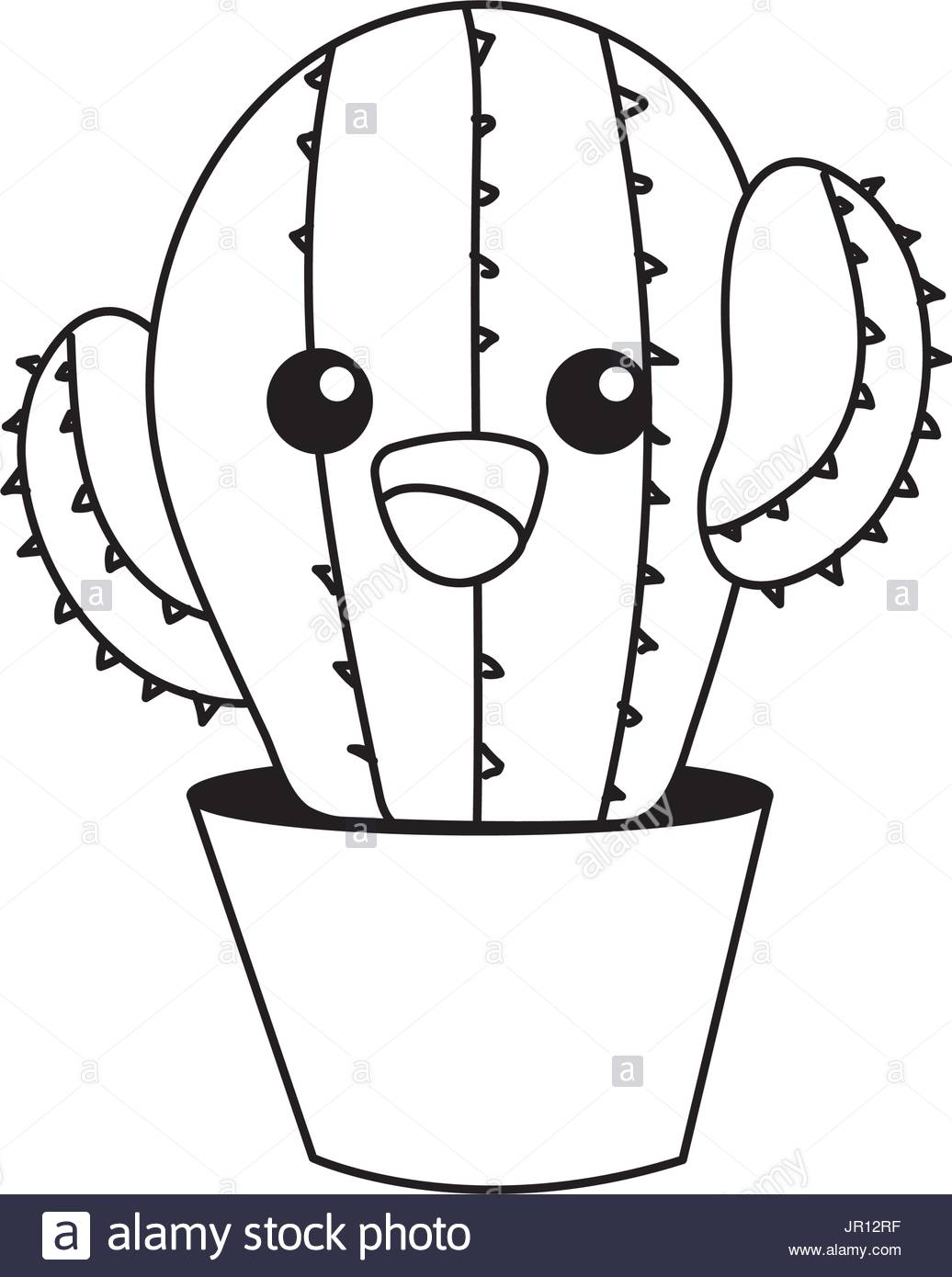 Cute Cactus Drawing at GetDrawings com | Free for personal use Cute
