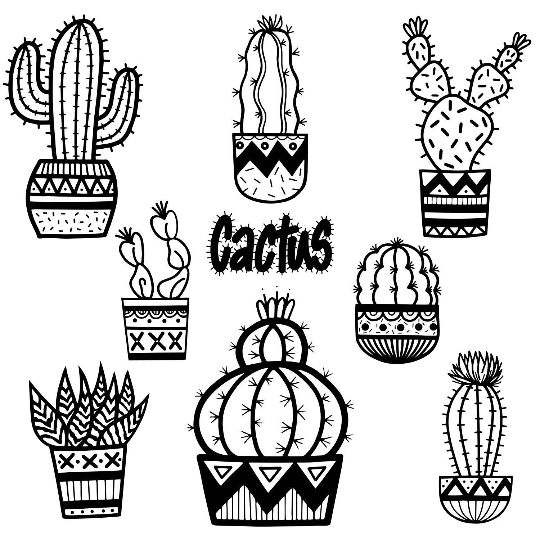 1500x1500 Cactus Clip Art, Cactus, Cute Cactus,hand Drawn, Doodles, Plants