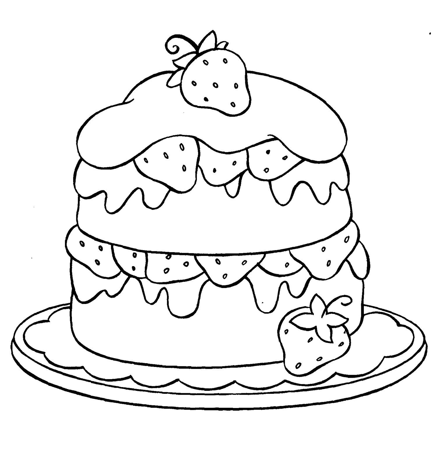 Cute Cake Drawing At Getdrawings Com Free For Personal Use Cute