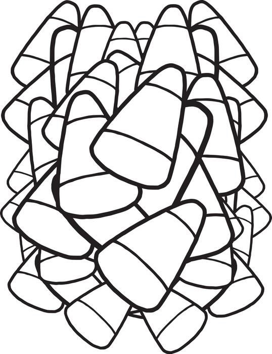 Cute Candy Corn Drawing at GetDrawings | Free download